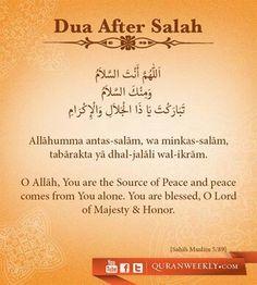 After performing salah  you can read this  prayer