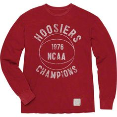 Indiana Hoosiers Original Retro Brand 1976 Basketball National Champions Vintage Long Sleeve T-Shirt