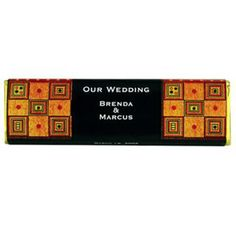 """Wedding Chocolate Bar - These bars are a very high quality Chocolate, made with the finest of ingredients. Available in Dark (not bitter at all) or Milk Chocolate. 2.2 oz bar 5.87"""" x 1 .75 x .5. Gold wrappers for Dark Chocolate Bar and Silver Wrapper for Milk chocolate Bars. http://www.favorfavor.com/page/FF/PROD/CHw2"""