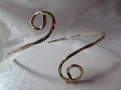 Bangle Bracelet Upper Arm Armlet Hammered Fancy by KulturePop