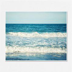 Beach Photography - Turquoise Water - Ocean Decor - Beach House - Seaside Surf - Waves - Beach Home Decor - Aqua, Blue, Teal, White - 8x10.. $28.00, via Etsy.