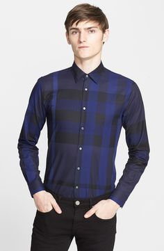 Burberry London 'Southbrook' Trim Fit Plaid Sport Shirt