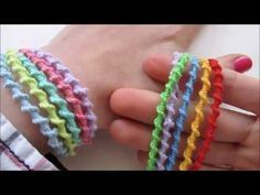 vriendschapsarmbanjde, 5 armbandjes in één - YouTube