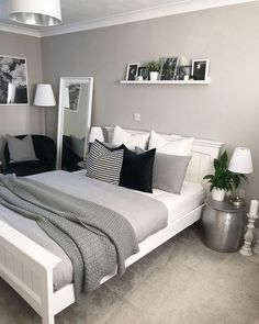 Bedroom decor - 47 Mythical Answers To Master Bedroom Layout Furniture Dressers Disclosed 39 Trendy Bedroom, Modern Bedroom, Gray Bedroom, Bedroom Romantic, Bedroom Boys, Teen Bedroom Colors, Bedroom Yellow, Bedroom Beach, Bedroom Dressers