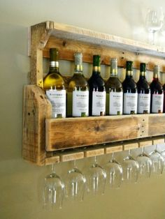 Kitchen Interiors: Wine Racks and Glasses