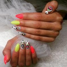 #ShareIG #azteckie #azteckie_wzorki #azteckiewzory #zdobienie #zdobienia #wzorkipaznokcie #zdobienia #neonowyróż #neonowe #neon #róż #żółty #żółtepaznokcie #kolorowepaznokcie #nailart #nail #paznokcie #paznokciekrakow #paznokcieżelowe #hybrydy #instanails #insta #nailssuper #nailsfashion #nailpolish #polishgirl