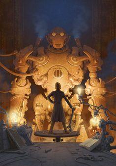 Gnome Bot concept.  Steampunk Tendencies | New Illustration by Antonio Caparo #Digitalart #Illustration #Steampunk