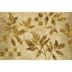 Gold Leaf Branches Landscape Canvas Art - Studio Nova (12 x 18)