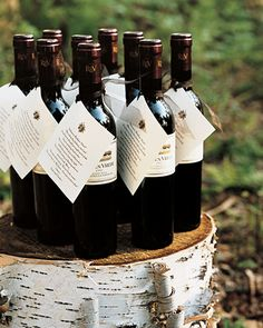 wine favors with notes