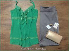 Look Closet Mulher  Top, saia de alfaiataria e acessórios  www. Facebook/closetmulher.com