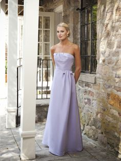 Chic strapless A-line bridesmaid gowns