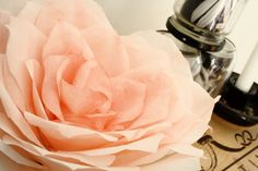 Coffee Filter Roses, Paper Roses, Crafty