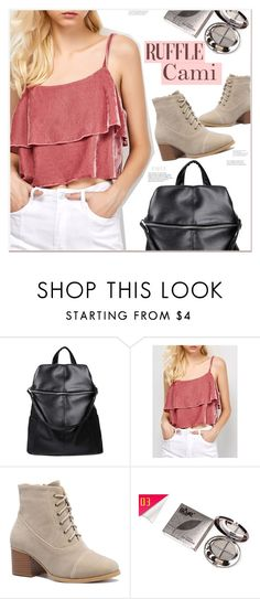 Cami: http://www.zaful.com/ruffles-velvet-cami-top-p_250361.html?lkid=23728 Bag: http://www.zaful.com/black-embossing-splicing-satchel-p_149033.html?lkid=23728 Shoes: http://www.zaful.com/suede-square-toe-chunky-heel-boots-p_217334.html?lkid=