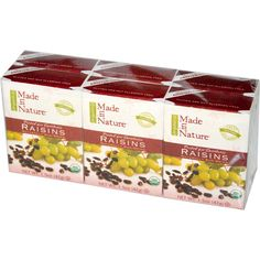 Made in Nature, Organic Raisins, 6 Pack, 1.5 oz (42 g) Each - iHerb.com