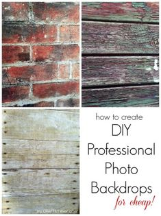 how to create DIY professional photo backdrops for cheap