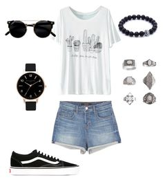 """""""{223}"""" by lilyschaefer ❤ liked on Polyvore featuring WithChic, J Brand, Vans, Topshop and Olivia Burton"""