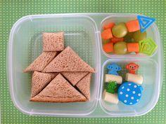 Tangram #bento Bento, Good Food, Lunch, Crafty, Dinner, Breakfast, Kid Stuff, Activities, Kids