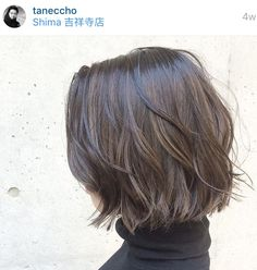 Casual lightly textured versatile bob cut hairstyle    Style haircut as naturally wavy, straight, or deconstructed loose waves w/a curling wand or flat iron