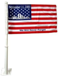 World Trade Center Commemorative Car Flag 8 x 13 by Americas & Americas. $12.95. World Trade Center Commemorative car flag US Patent No. 464590. You asked for it so here it is. This is our top quality WTC car flag in a smaller size. The post is 20? high and the flag is 8? x 13?. This flag will fly high above your car so you will not hear the flag hitting the roof of your car. We say ?compact car? but they will fit any window of any car.This is the most durable Ca...