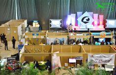 Montaje de Ecostands en Creativa Fest 2014.