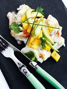 Ceviche med mango og torsk - lækker opskrift