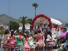 San Isidro 2012. Every 15th May there is a colourful romeria from the Balcon to the caves of Nerja. It is a spectacular local fiesta not to be missed!