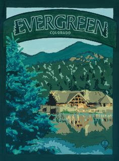 Evergreen - Gouache on Pressed Board By Julie Leidel Go to www.thebungalowcraft.com to see more.  Lullabeats encourages you to support local artists.
