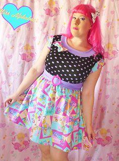 Barbie polka dot dress retro 80s 50s fairy pop kei by missalphabet, $60.00