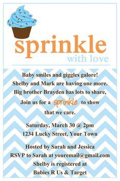 Sprinkle baby shower Cupcake Invitation Template 4x6 | Sprinkles ...