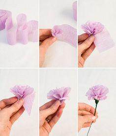 ¿Cómo Hacer Flores de Papel Crepé?