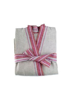 Linen Bathrobe kimono bathrobe linen color robe by LinumStudio