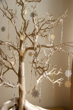 Winter Wedding Wish Tree with Snowflake Favors - Wedding Favors and Guest Book