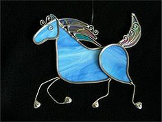Stained glass celtic pony