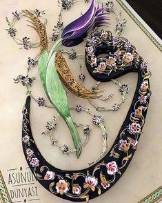 Asuman Ayhan (@asumankocaayhan) • Instagram fotoğrafları ve videoları Islamic Calligraphy, Caligraphy, Islamic Art, Art Images, Folk Art, Decoupage, Weaving, Card Making, Letters