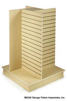 slatwall display Price: $222.52 Quantity: 6 Source: http://www.displays2go.com/P-21273/Slatwall-Display-Maple-w-4-Walls?o=12-0