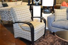 Do you have problems with the arms of your favorite chair getting filthy? The wooden ones on the Aquino Chair are a great way to avoid that and it's back in a wonderful new fabric! http://lifestylescomo.com/