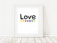 LOVE is all that matters / Home Art Print Home by ThePartyKitShop