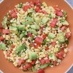 Charred Corn Salad with Tomatoes and Avocados Recipe | 100 Days of Real Food | Bloglovin'
