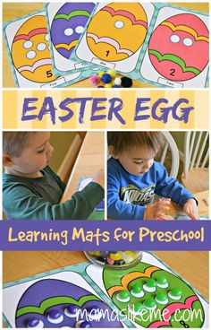 Mamas Like Me: Easter Egg Play Dough Mats for Preschool