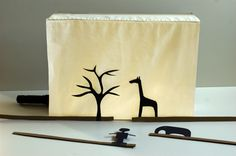 Shadow Box Theater from MADE TO PLAY! Diy For Kids, Cool Kids, Crafts For Kids, Shadow Play, Shadow Box, Steiner Waldorf, Shadow Theatre, Happy Children, Shadow Puppets