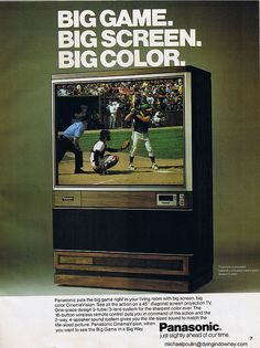 48 Best Ideas Old Big Screen Tv Ideas Television Color Television, Vintage Television, Radios, Multimedia, 80s Ads, Big Screen Tv, Flat Screen, Old Time Radio, Old Computers