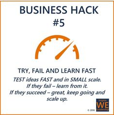 Take away from Business Hack #5: If you don't make progress, you will end up being mediocre and eventually redundant.  To stay relevant: Focus on your purpose and allow failure and learning to be part of what you do.  #inspireWEleadership #connectingTHEMandUS #becourageous