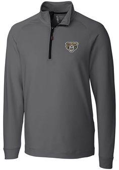 0fea9e9c40d2 Cutter and Buck Oakland University Golden Grizzlies Mens Grey Jackson Long  Sleeve 1 4 Zip Pullover - 13490929