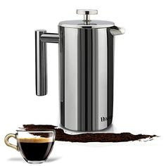 Homdox  18/10 Stainless Steel French Press #Coffee Maker