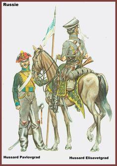 RUSSIA - Ussaro di Pavlograd e Ussaro di Elisavetgrad