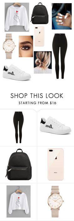 """""""Untitled #77"""" by lucia-xd-1 on Polyvore featuring Topshop, MANGO and ROSEFIELD"""