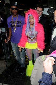Nicki Minaj ...LOOKS LIKE MONSTERS INC CHARACTER LOL