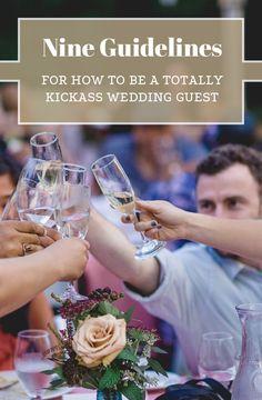 Nine ways be best wedding guest