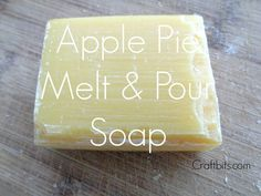 This soap looks wonderful packaged up with dried apple rounds tied onto the top.