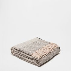 STRIPED WOOL THROW $139.00